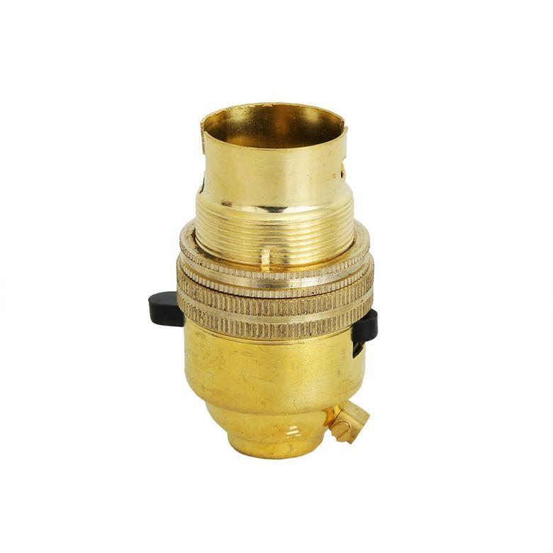 Support de lampe vintage en métal avec interrupteur B22