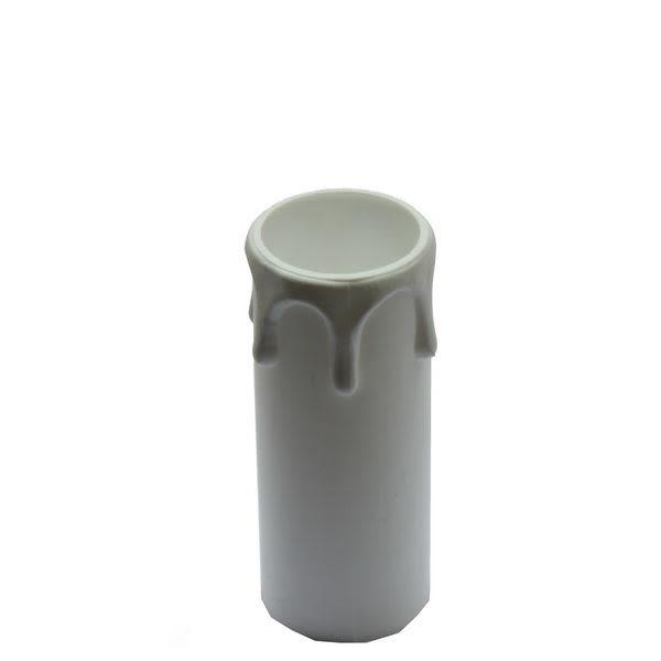 White small wax drip plastic candle tube 7cm