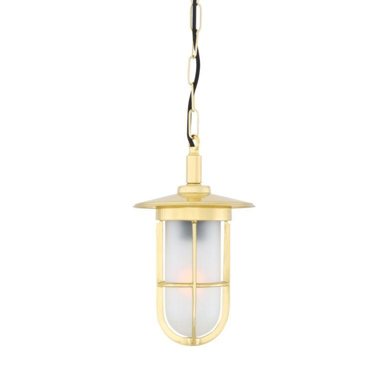 Ramor Nautical Brass / Glass Pendant Light IP65