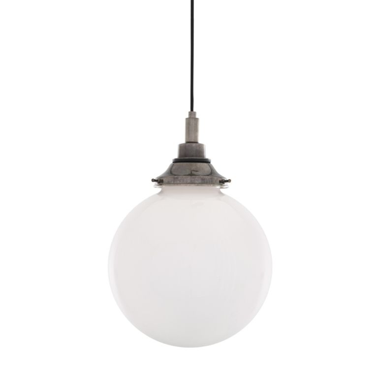 Pelagia Opal Globe Bathroom Pendant Light 25cm IP44