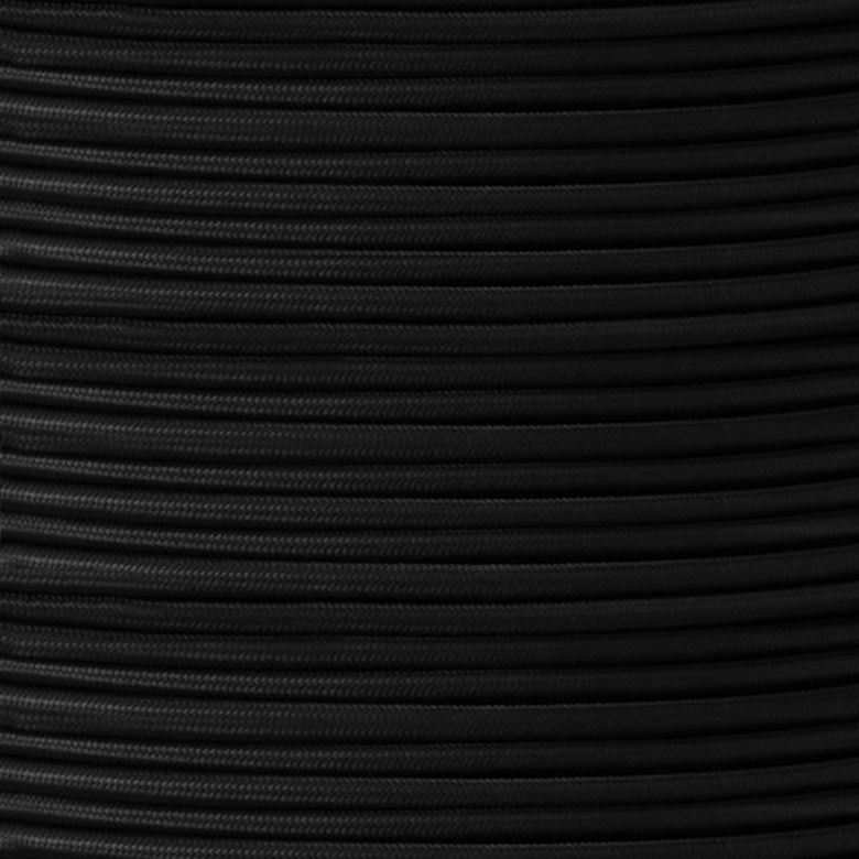 UL Listed Black Fabric Braided Cable, 2 Core Round