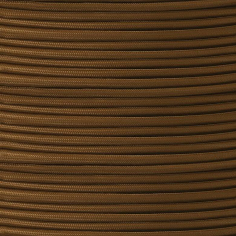 UL Listed Brown Fabric Braided Cable, 2 Core Round