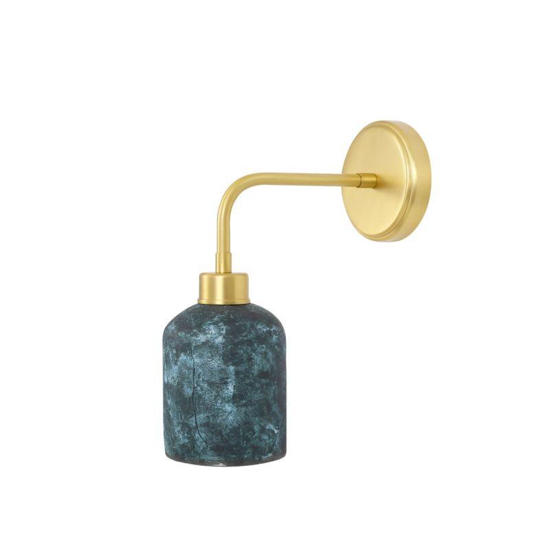 Osier Organic Ceramic Wall Light, Blue Earth