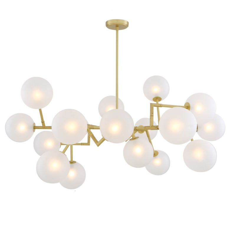 Athens Frosted Glass Globe Chandelier, 18 Light