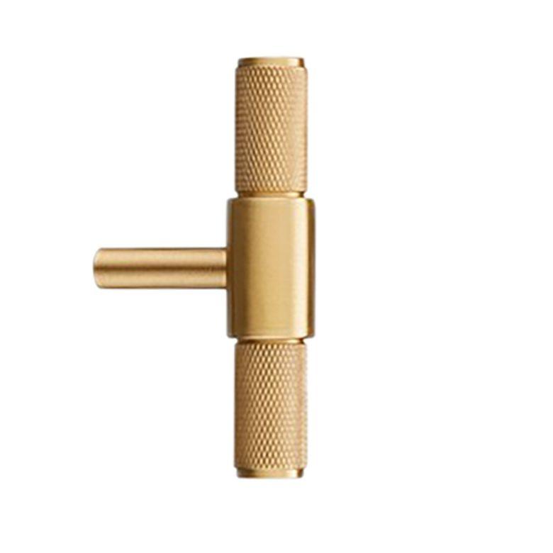 Samford Small Brass Knurled Pull Handle