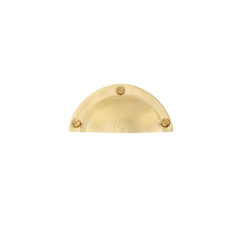 Malin Brass Drawer Shell Pull Handle 94mm