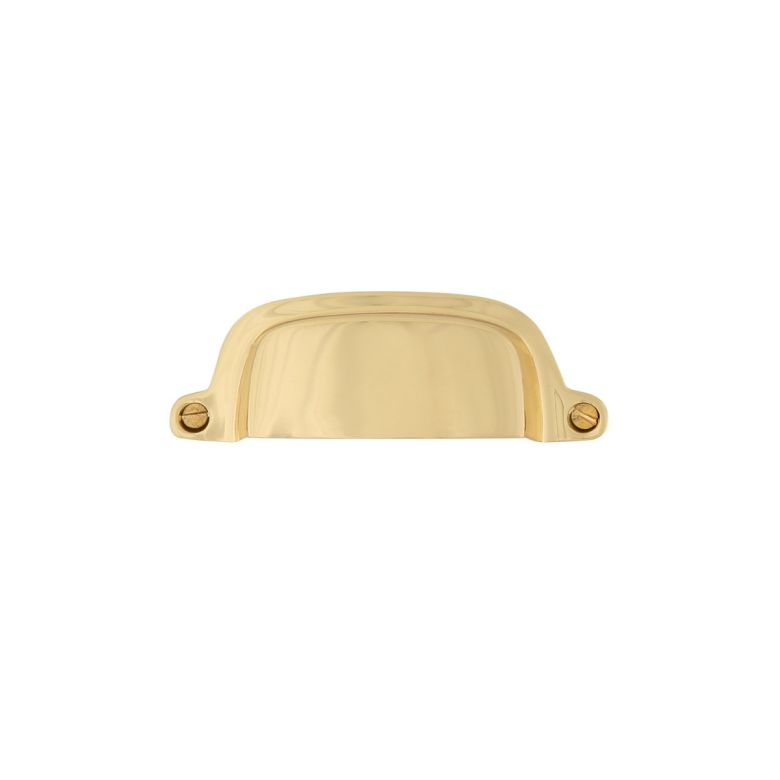 Neale Brass Drawer Curved Pull Handle 97mm