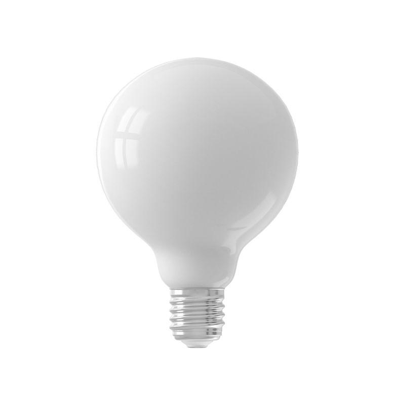 LED Milky White Globe Bulb Dimmable E27 6W 9.5cm