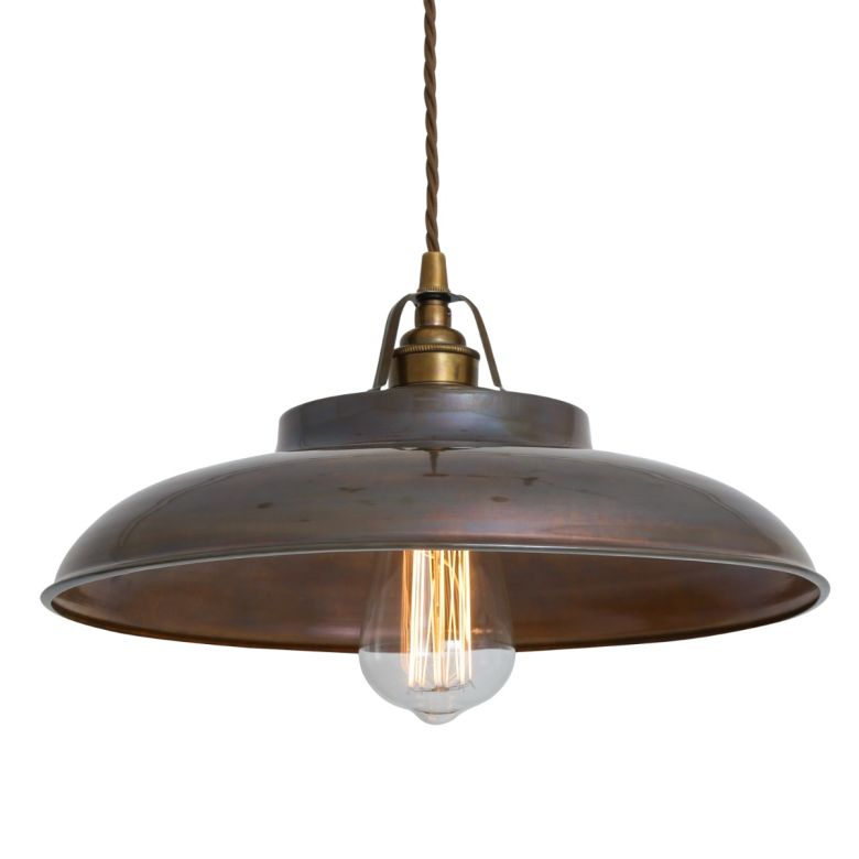Telal Industrial Factory Pendant Light 32cm, Antique Brass