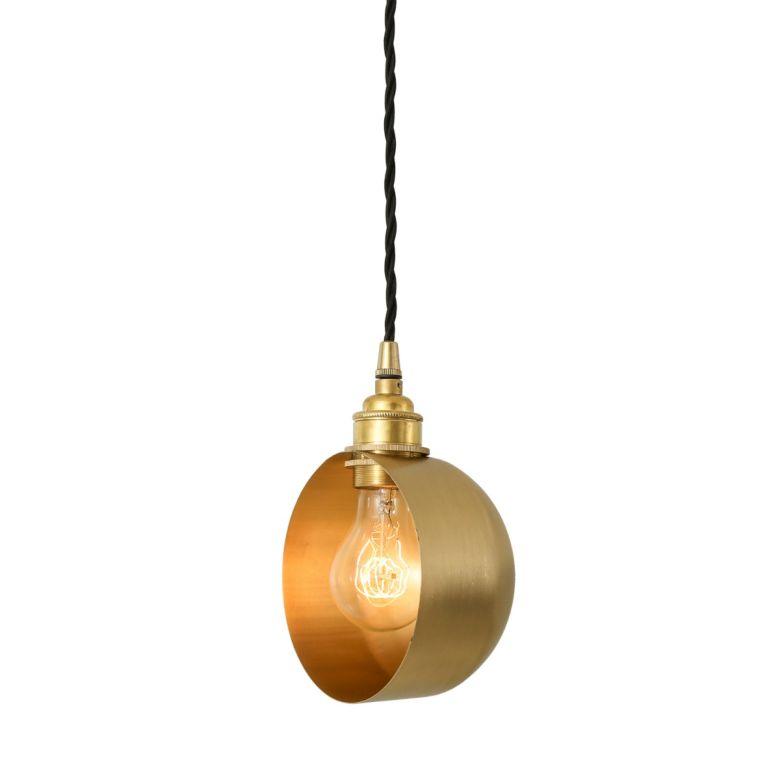 Bogota Modern Brass Pendant Light, Satin Brass