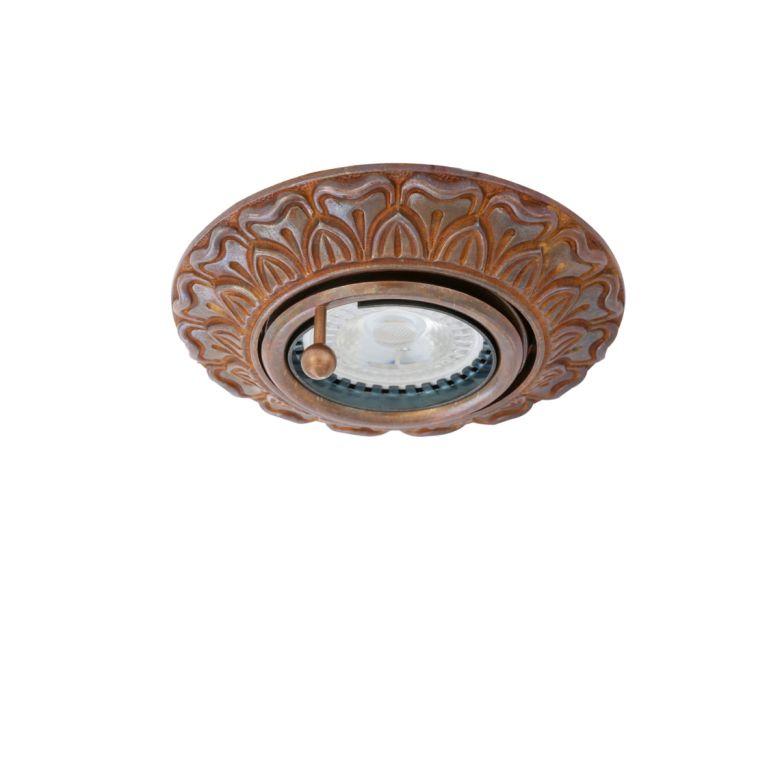 Malé Adjustable Brass Recessed Spotlight 12cm, Antique Brass