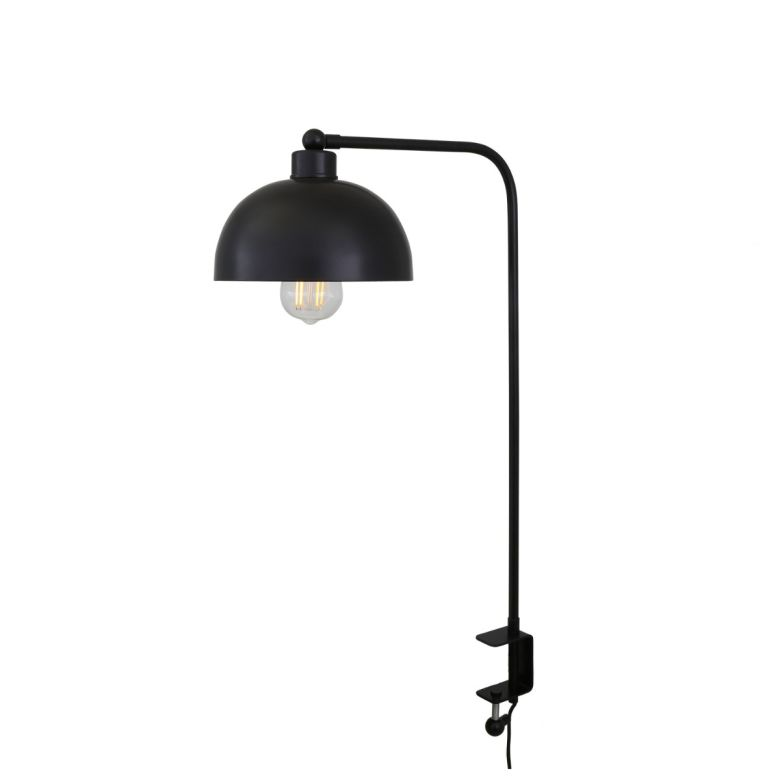 Maua Brass Table Lamp with Desk Clamp