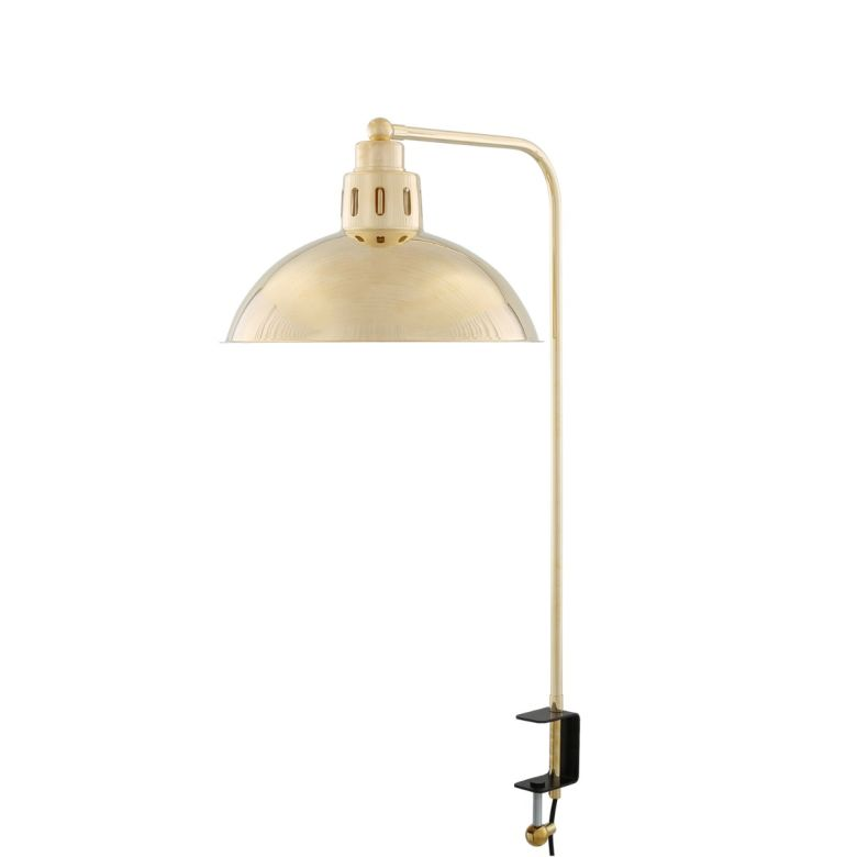 Paris Brass Table Lamp with Desk Clamp