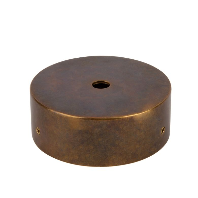 Brass IP Wall Plate 8.5cm, Two-Part