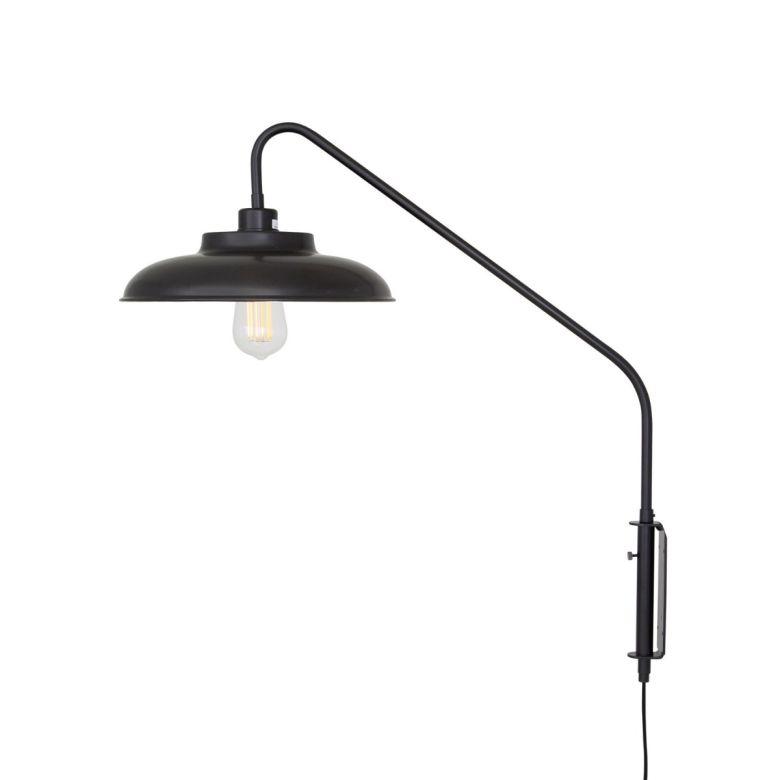 Denver Industrial Swing Arm Wall Light Matte Black