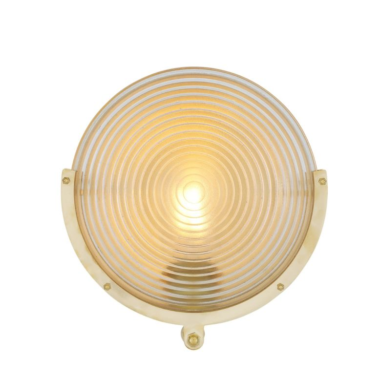 Portland Prismatic Glass Dish Wall Light 27cm