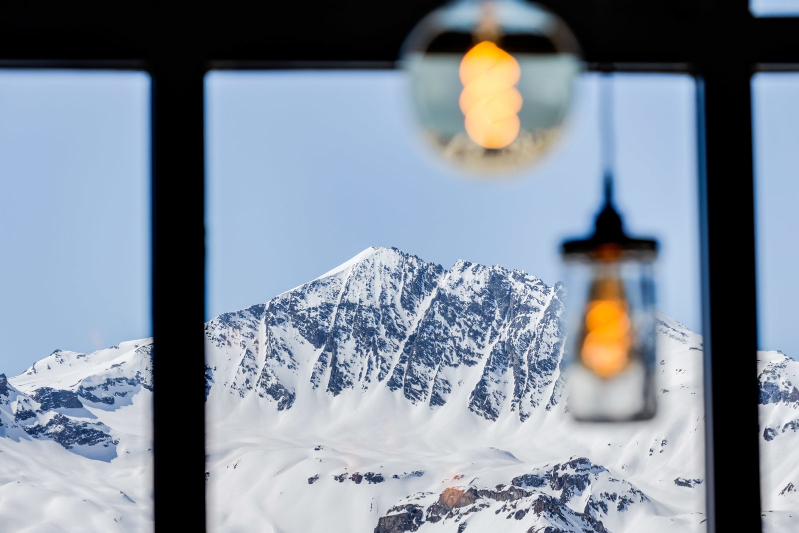 Vintage lights from Mullan Lighting in the French Alps