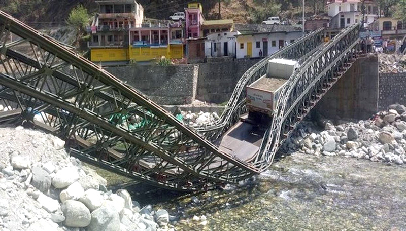 Bridge collapses, Gangotri highway