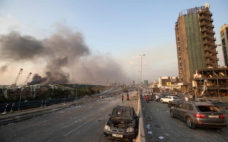 video explosión Beirut