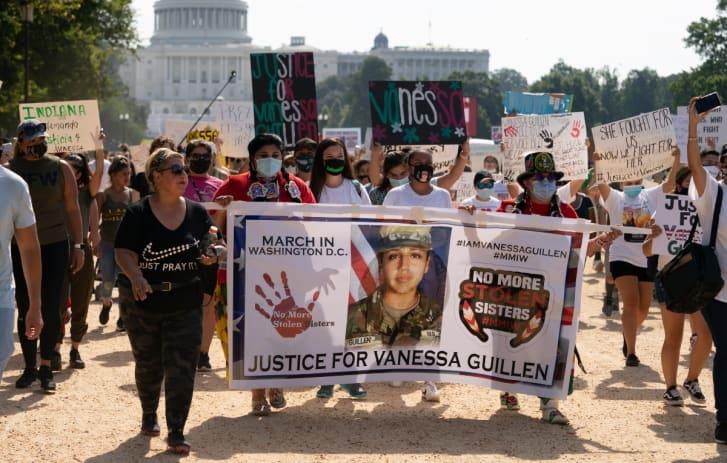 Trump funeral Vanessa Guillén