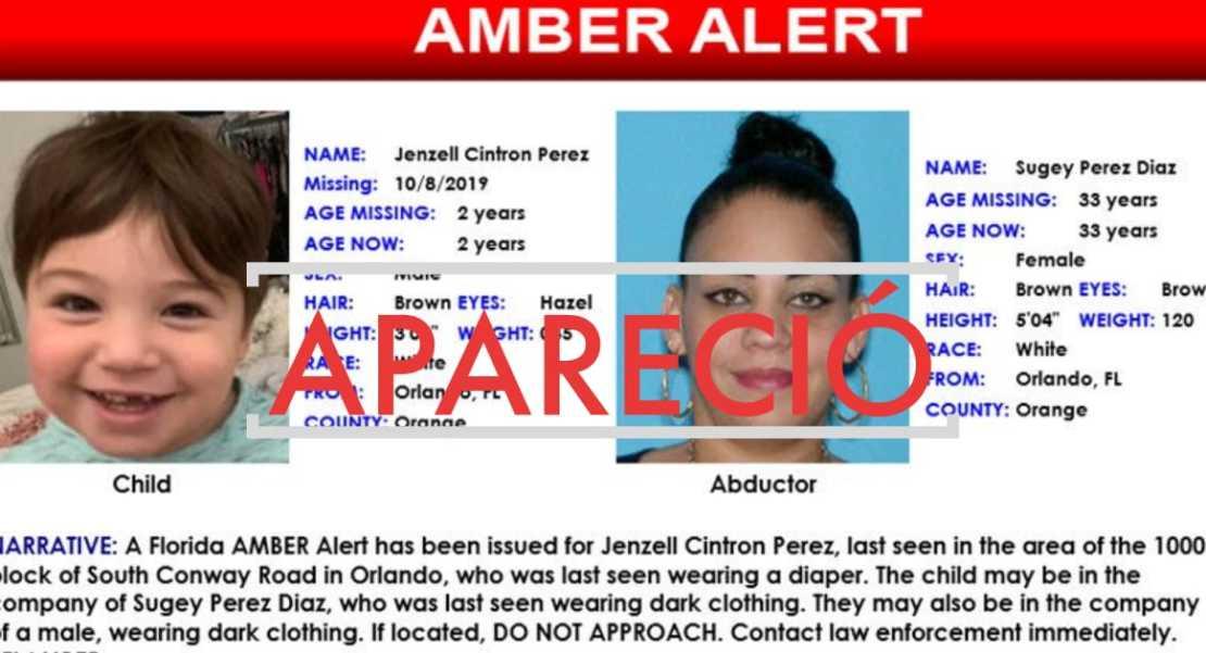 Jenzell Cintron Pérez niño hispano secuestrado