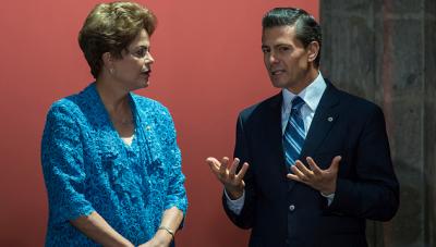 Peña Nieto está por debajo que su homóloga brasileña, Dilma Rousseff, que se encuentra en el puesto 37. (Getty Images).