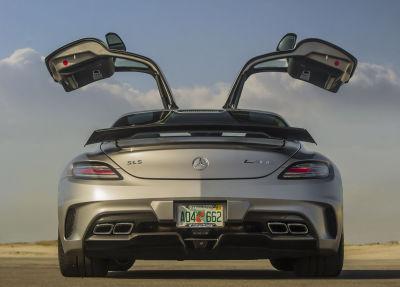 El Chapo Guzmán tenía una debilidad por vehículos de Mercedez-Benz AMG como este SLS. Foto: Mercedes-Benz