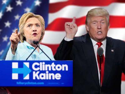 Trump aventaja a Clinton en las encuestas. Fotos AP.