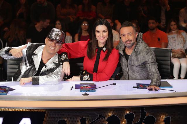 Wisin, Laura Pausini y Mario Domm, Jueces de La Banda. ( Cortesia Univision)
