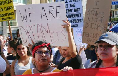Protesta de dreamers. FOTO: Archivo (AP)