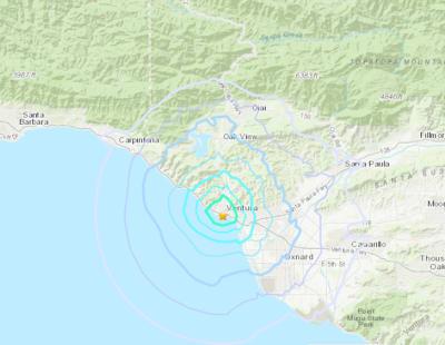Terremoto de magnitud 3.6 sacude el Condado de Ventura