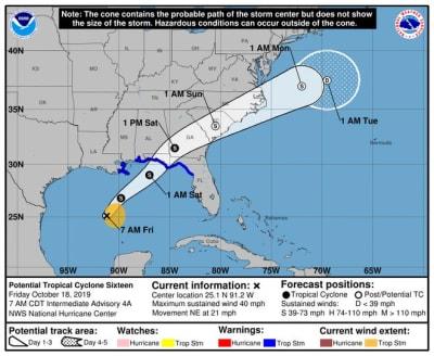 potencial ciclón tropical