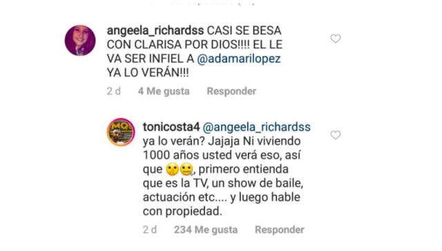 Toni molesto por acusación de infidelidad
