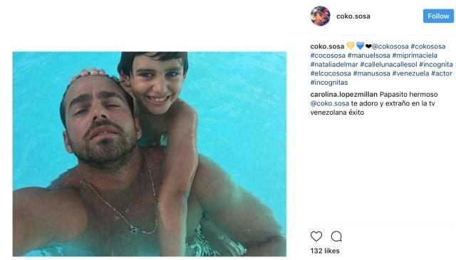 """Actor Manuel """"Coco"""" Sosa y su hijo Daniel Alejandro Sosa De Lima. (cokososa Instagram)"""