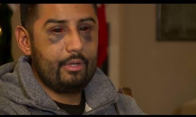 Hispano golpeado brutalmente