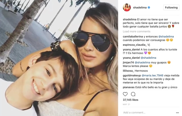 Shannon De Lima y su hijo Daniel Alejandro Sosa De Lima. (Shannon De Lima Instagram)
