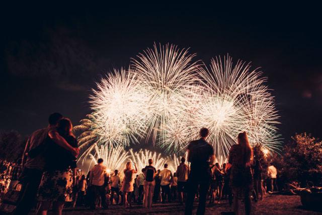 julio 4 Fuegos artificiales