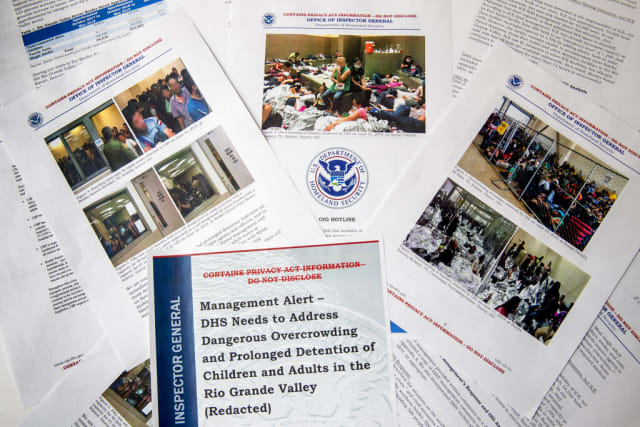 migrantes detenidos reporte Texas