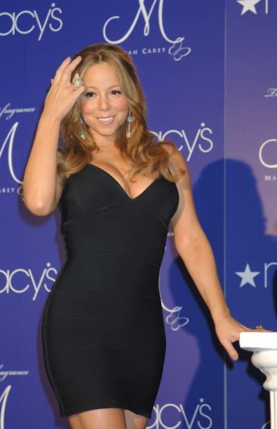belinda en Serie Luis Miguel como Mariah Carey