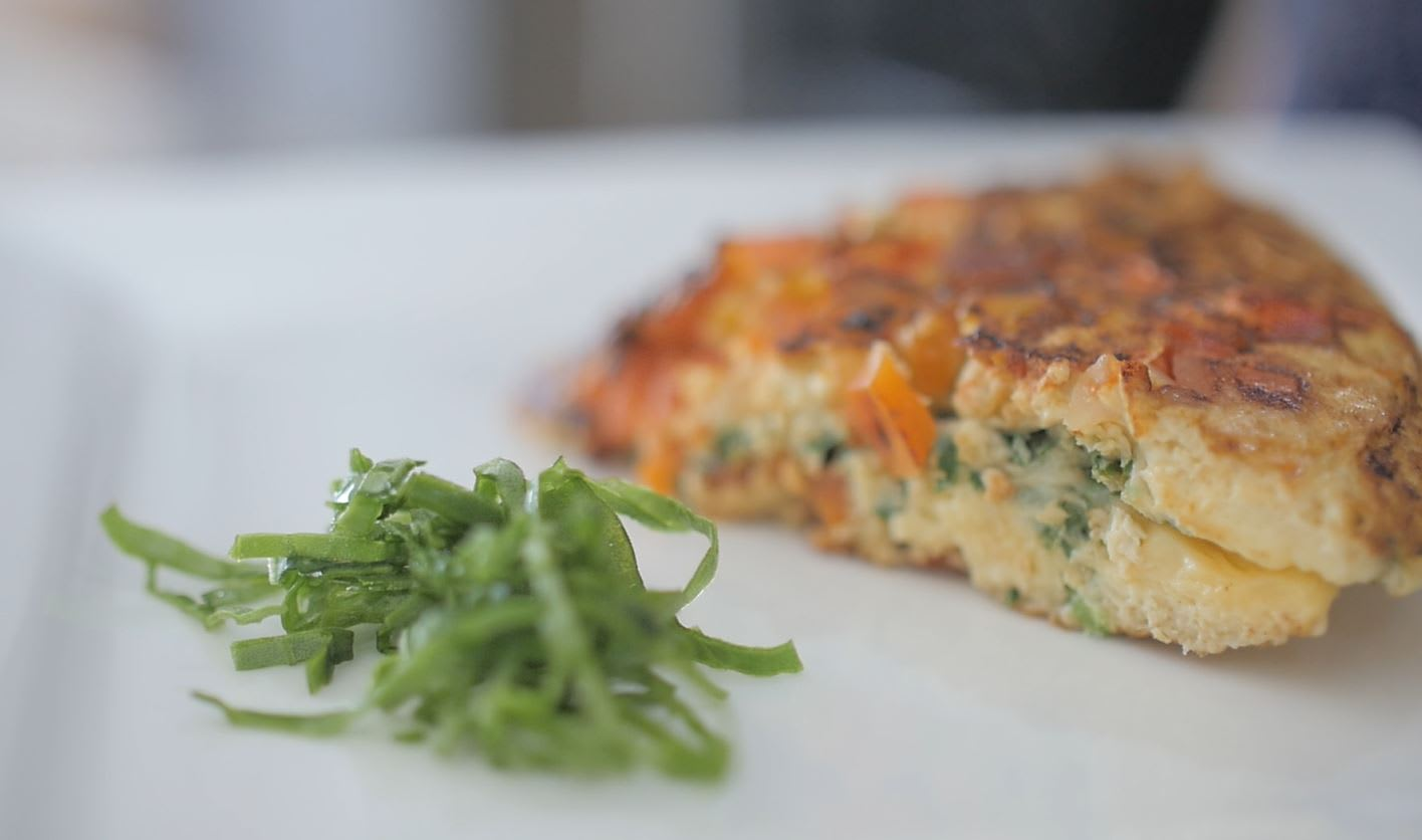 Receta: Omelette de vegetales (VIDEO)