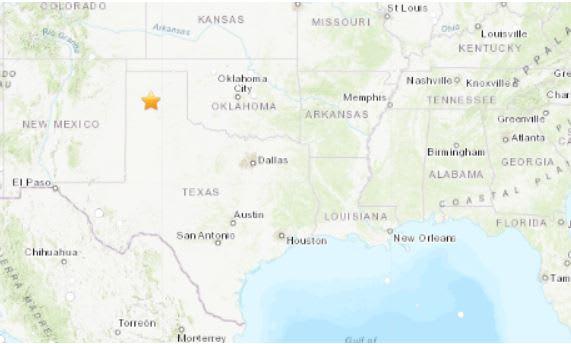 sismo texas oklahoma