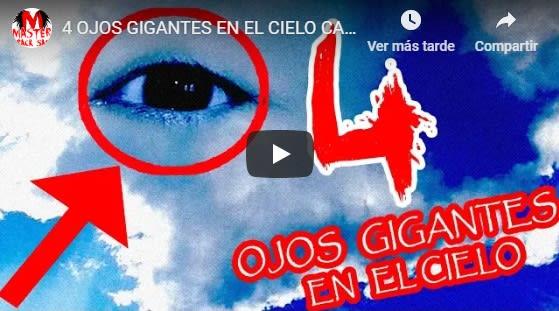 Enormes ojos de ángeles en el cielo… ¡Impresionante! (VIDEO)