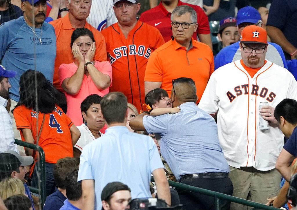 Así fue el dramático momento en el que una niña recibió un pelotazo en la MLB