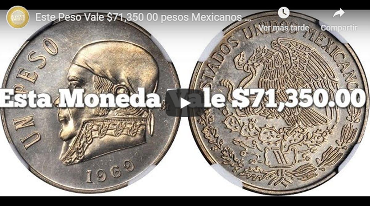 Un peso mexicano que vale por 71.000! ¡Increíble hallazgo!