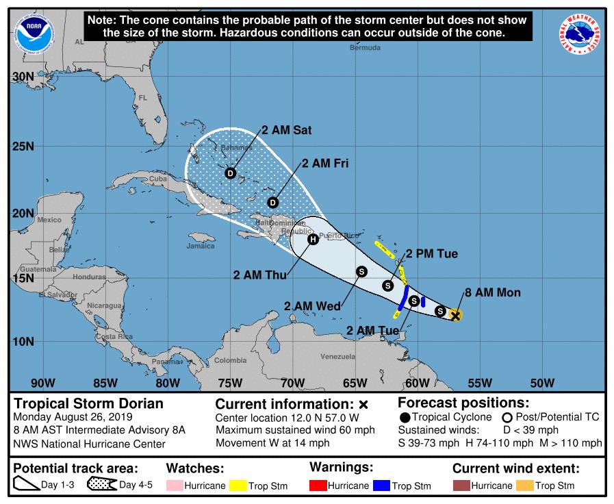 Tormenta Dorian: Gobernadora de Puerto Rico declara estado de emergencia
