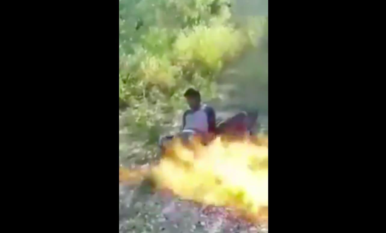Aparece fuerte video donde queman hombres vivos en México (VIDEO FUERTES IMÁGENES)