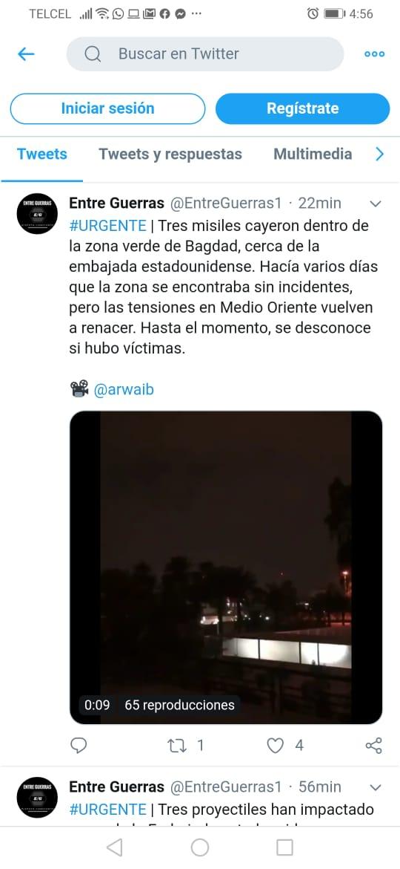 Atacan embajada Bagdad