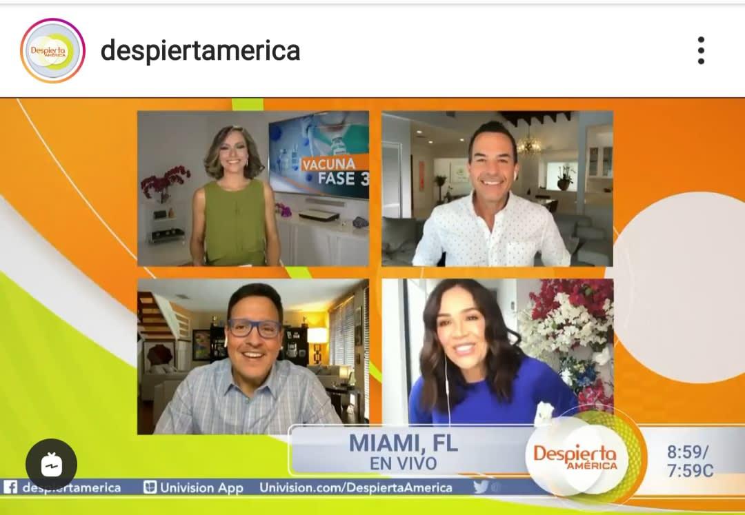 Reaparece Karla Martínez en Despierta América y anuncia lo que hará para ayudar en la lucha contra el coronavirus