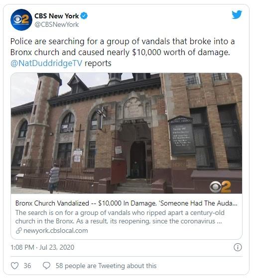 Nueva York robaron iglesia