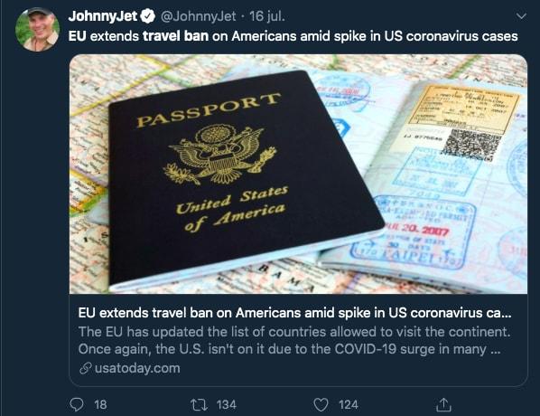 Unión Europea restricciones viaje